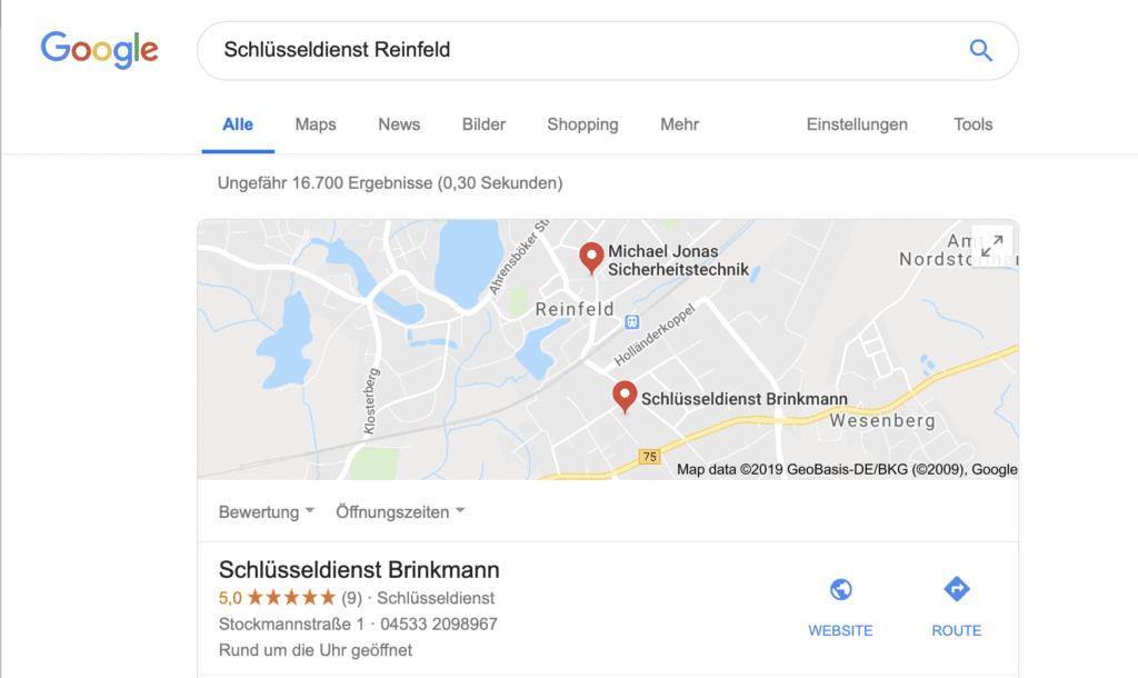 Standort Schlüsseldienst Reinfeld