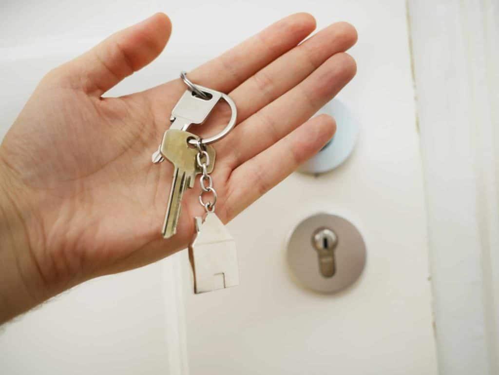 Schlüssel vom Türschloss verloren